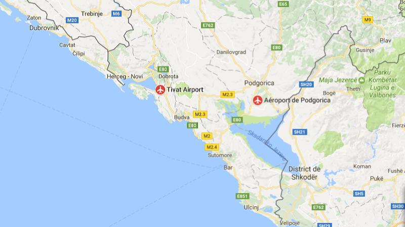 аэропорты прилета из Москвы в Черногории