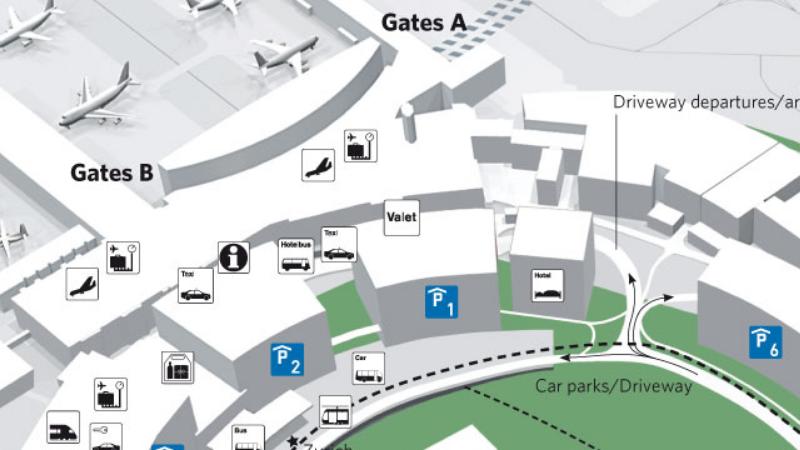 добраться из аэропорта Цюриха до центра города