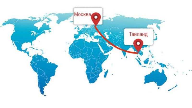 сколько часов лететь до Тайланда из Москвы