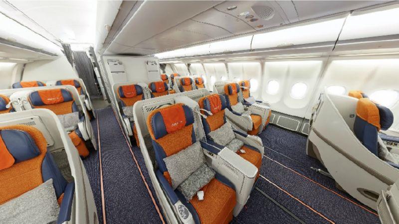 аэробус А330-300 схема салона
