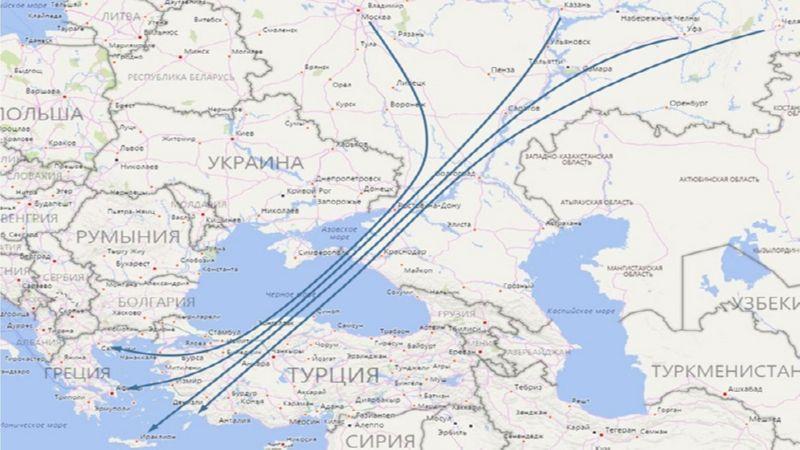 время полета Москва Греция