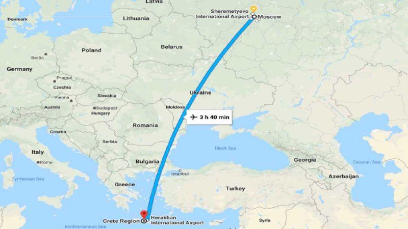 перелет Москва - Крит