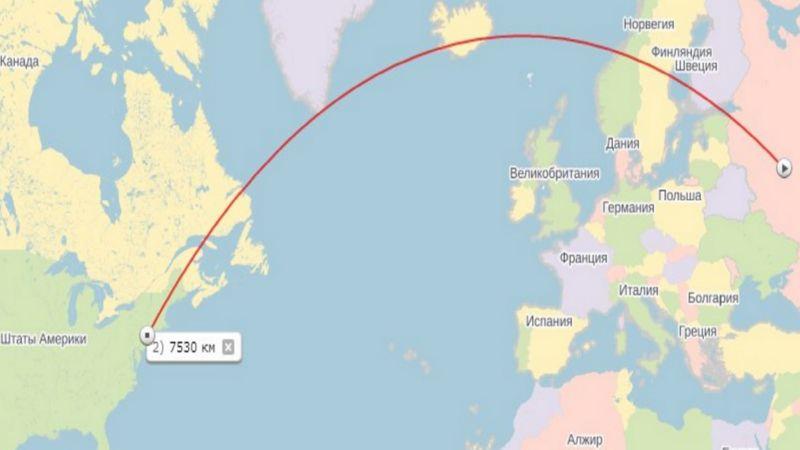 сколько лететь до Нью-Йорка из Москвы