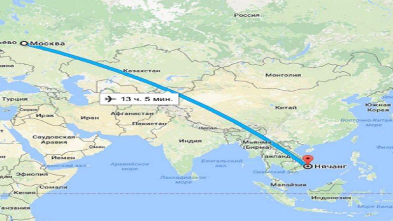сколько лететь Москва - Нячанг