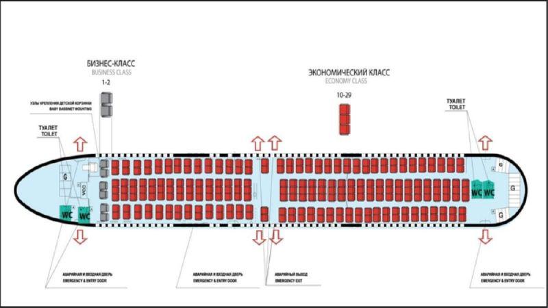 - боинг 767-300 Azur Air схема салона лучшие места