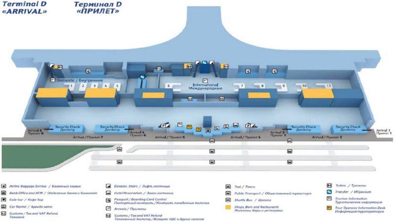 Шереметьево терминал, д, уровень-3, вылет
