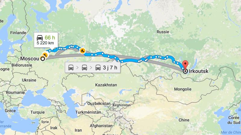 время полета Москва - Иркутск