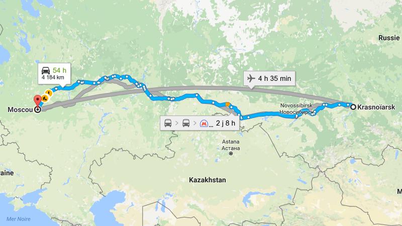 сколько лететь до Красноярска из Москвы