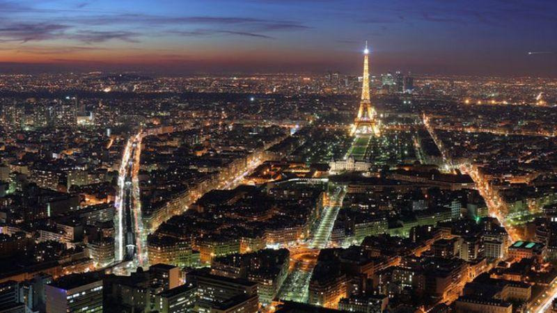 время перелета Москва - Париж