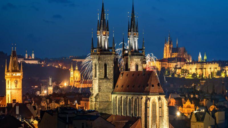 время полета Москва - Прага