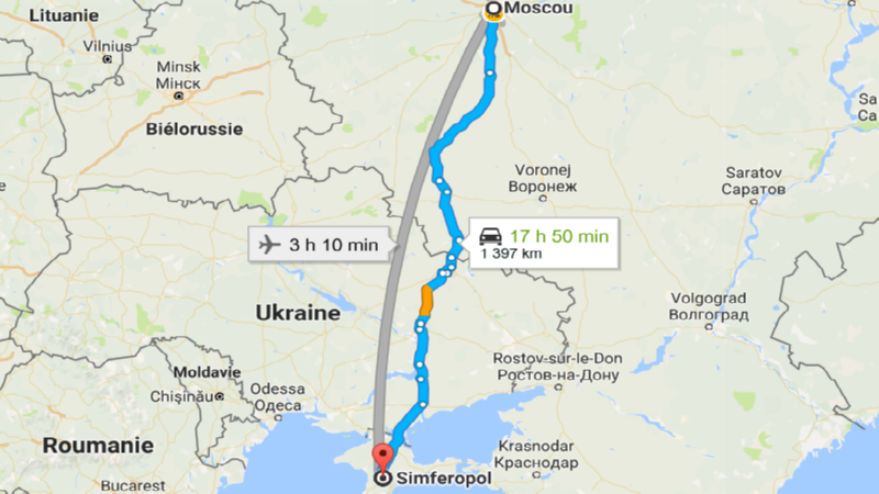 перелет Москва - Симферополь