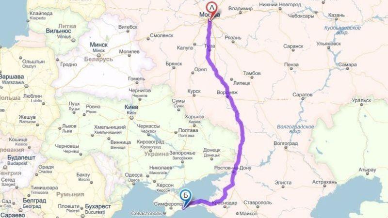 сколько лететь до Симферополя из Москвы