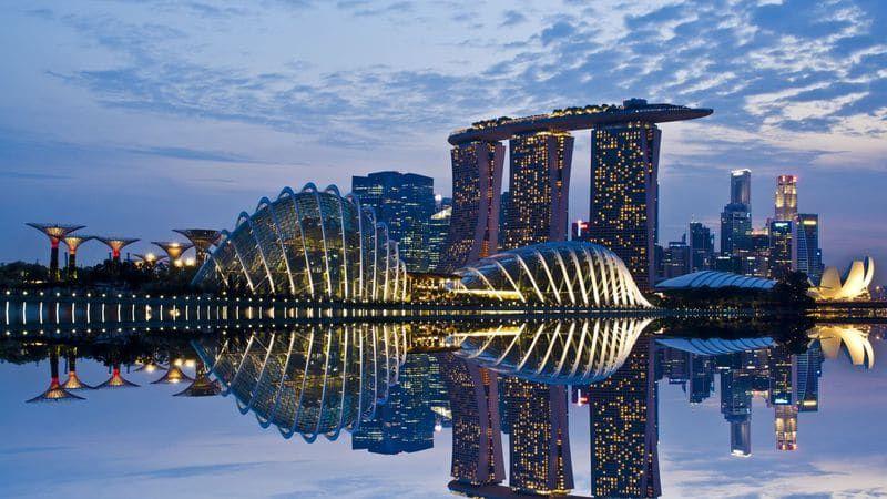 время полета Москва - Сингапур