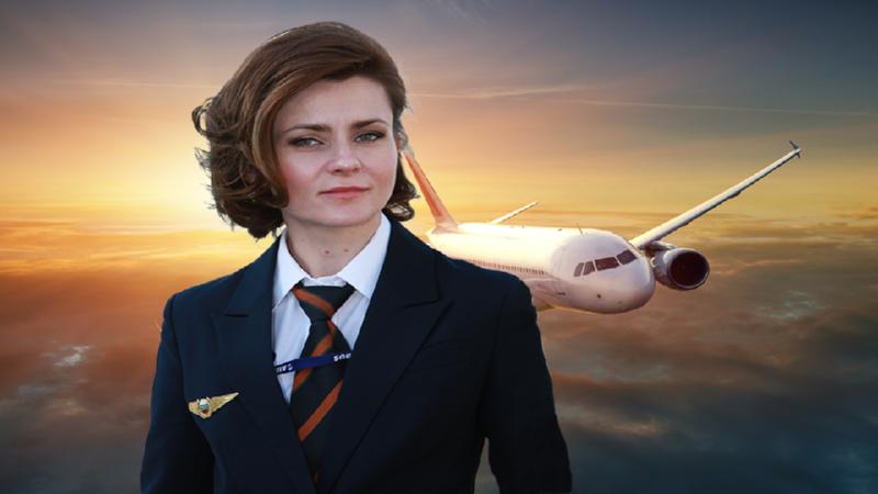 женщина пилот Аэрофлота