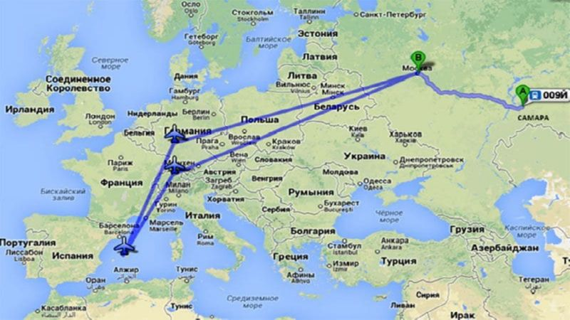 перелет Москва - Милан